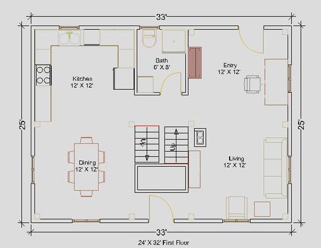 Floor plans 24 x 32 house