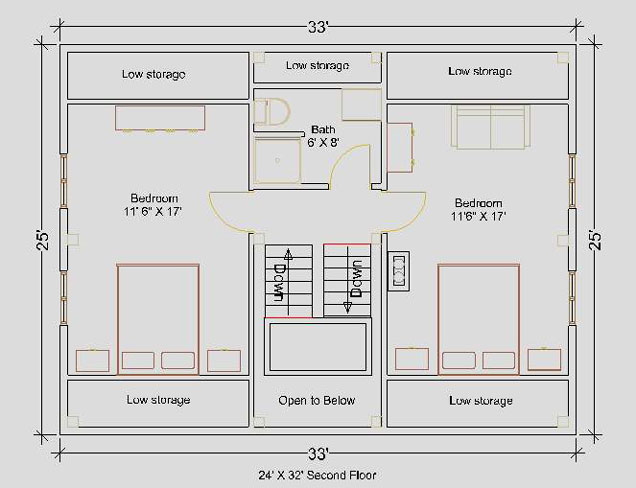 24 39 x32 39 cape second floor floorplan