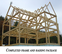 A completed frame and raising package
