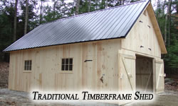 Traditional Timberframe Shed