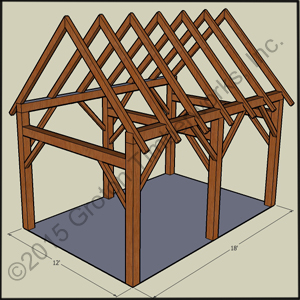 12' X 18' Timberframe Shed
