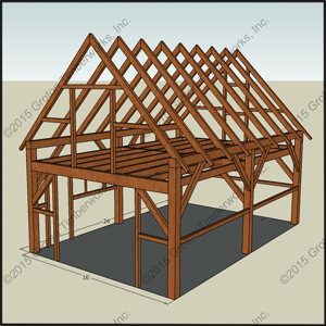 Storage building shed blueprints 16x24 for A frame garage with loft