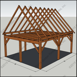 20' X 24' timberframe shed