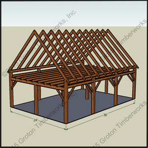 Timberframe sheds garages groton timberworks for 12x18 shed window